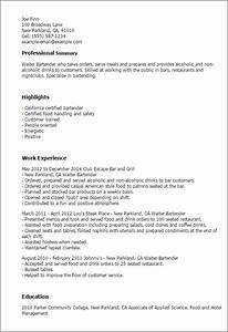 waitress resume Job Description A Waitress For A Resume