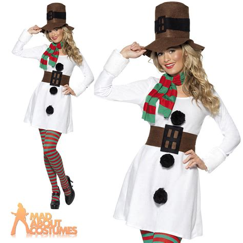 miss snowman costume sexy adult ladies christmas fancy