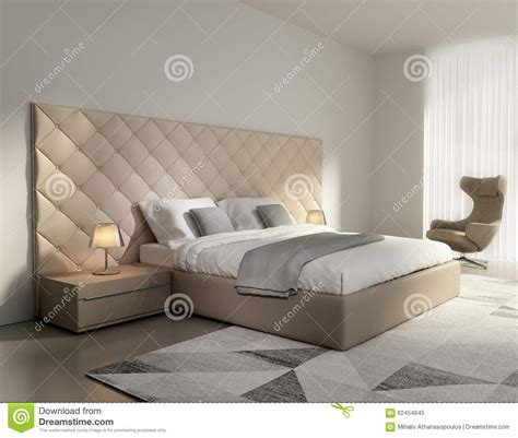chambre blanc beige contemporary luxury beige leather bedroom stock