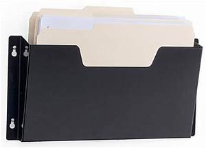 wall file hanging rack single pocket holder With letter size document holder