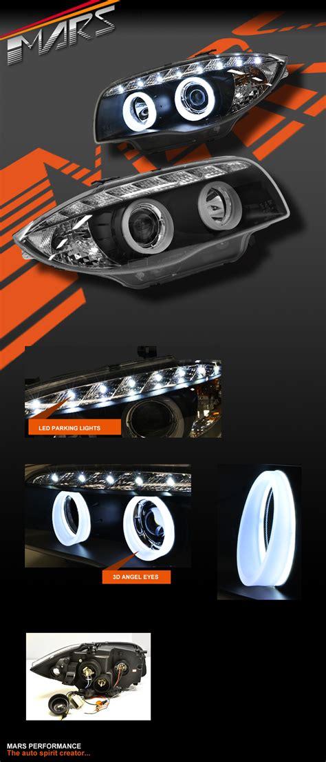bmw e82 e87 angel drl led eyes projector e81 e88 lights head 3d headlight