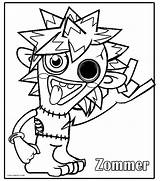 Coloring Monsters Moshi Monster Drawing Printable Cool2bkids Colouring Sheets Silly Children Getdrawings Getcolorings sketch template