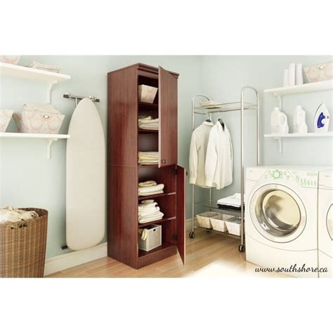 South Shore Narrow Storage Cabinet by South Shore Narrow Storage Cabinet In Royal Cherry