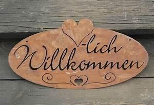 Türschild Herzlich Willkommen : herzlich willkommen schild rost edelrost t rschild ebay ~ Sanjose-hotels-ca.com Haus und Dekorationen