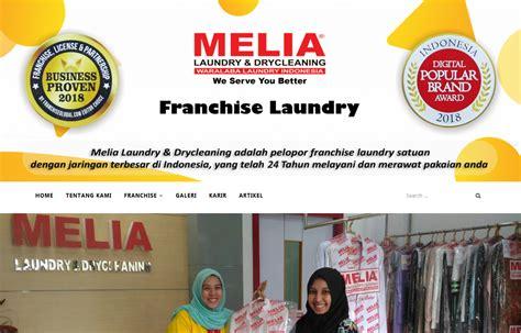 franchise laundry melia laundry jasa pembuatan website