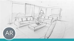 Perspektive Zeichnen Raum : innenarchitektur zeichnungen perspektivisch zeichnen lernen bewerbungsmappe architektur youtube ~ Orissabook.com Haus und Dekorationen