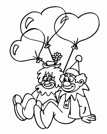 Clown Printable Coloring Pages Happy Clowns Face