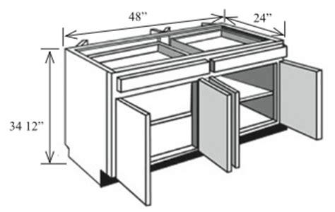 24 x 48 kitchen island bi48 kitchen island base cabinet 48 quot w x 34 1 2 quot h x 24 quot d 7305