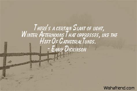 there s a certain slant of light winter quotes