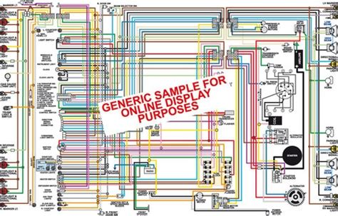 Wiring Diagram 1970 Camaro by 1972 Chevy Camaro Color Wiring Diagram Gauges