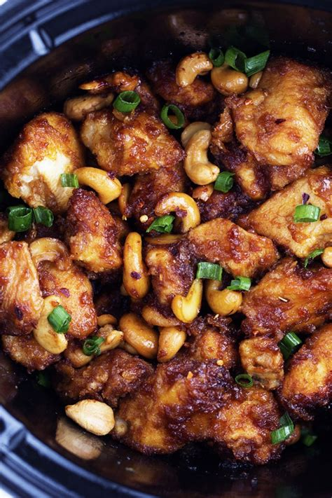 chicken cooker slow recipes cashew easy dinner