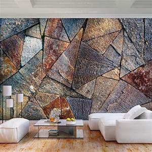 Fototapeten 3d Effekt : vlies fototapete 3d effekt stein rost tapete wanbilder xxl ~ Watch28wear.com Haus und Dekorationen