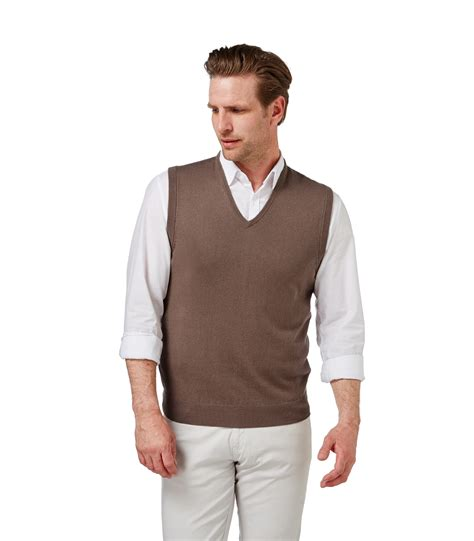 mens sweater vest woolovers mens and cotton slipover knitted vest