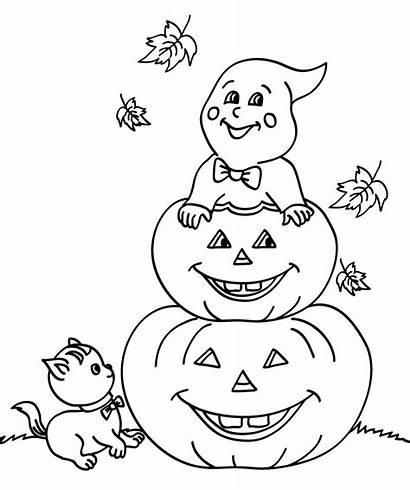Pumpkin Coloring Halloween Pumpkins Sheets Ghost Ausmalbilder