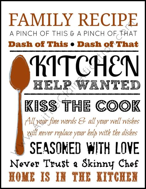 free kitchen printables home is in the kitchen a foodie inspired free printable