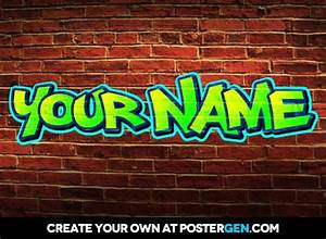 Write a word in graffiti online