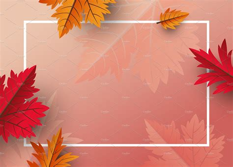 autumn leaves background design custom designed
