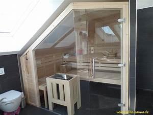 Sauna Für Badezimmer : sauna im bad unterhalb einer dachschr ge sauna ~ Lizthompson.info Haus und Dekorationen