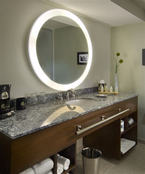 silhouette led lighted bathroom mirror electric mirror