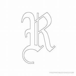 printable old english alphabet stencil r crafts With medium sized letter stencils