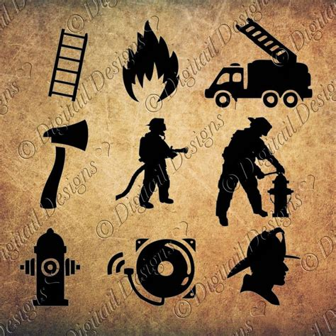 ✓ free for commercial use ✓ high quality images. Firefighter Silhouettes Clipart Images svg, png, dxf, eps ...