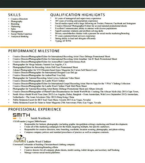 Free Skilled Trade Resume Template by Social Media Marketing Cover Letter Ideas 7 Best Images Of Social Media Business