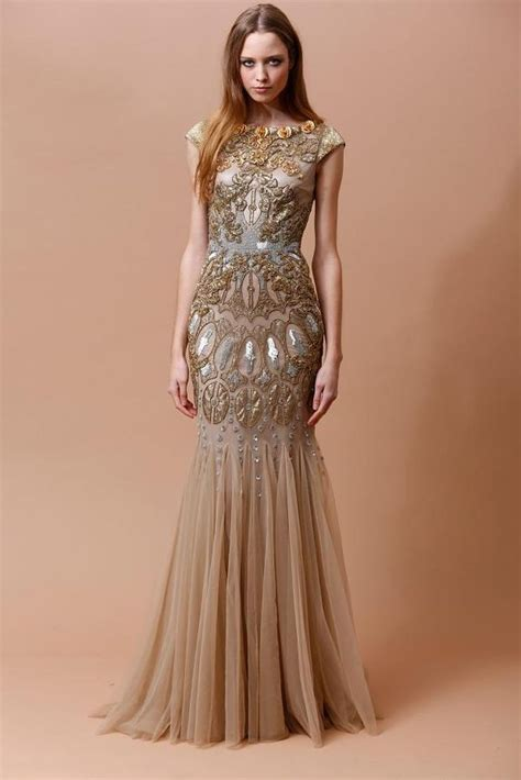 glamorously ornate gowns badgley mischka pre fall