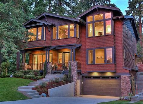 homes   sloping lot images  pinterest