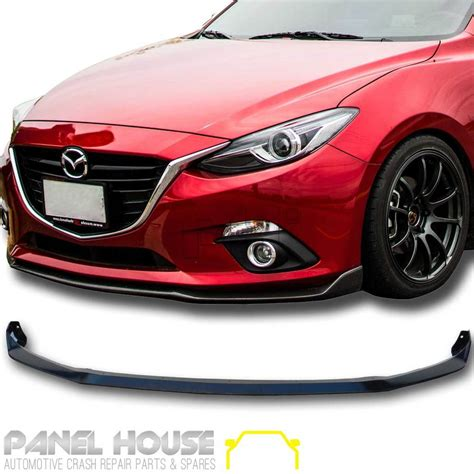 front bumper bar  lip carbon   mazda  bm bn hatch sedan panel house