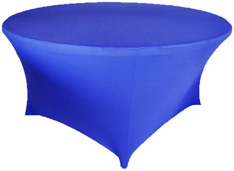 royal blue table linens 72 quot round royal blue spandex tablecloths covers