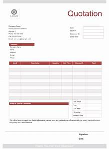 Quotation form free quotation form templates for It quotation template