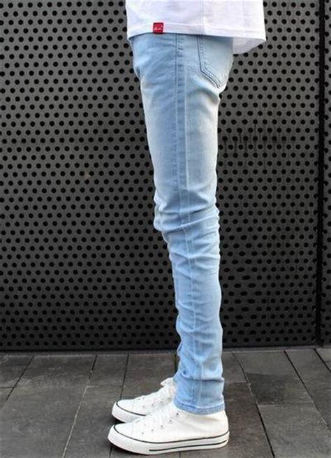 light blue jeans mens slim fit free shipping fashion style spring autumn men skinny