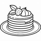 Pancakes Pancake Coloring Drawing Clipart Transparent Panqueques Mewarnai Gambar Gratis Icons Icon Icono Untuk Sketch Svg Plate Template Anak Anadir sketch template