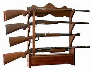 4 Gun Wood Wall Rack, #AFC 840