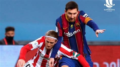 Spanish Super Cup: Lionel Messi given RED card first time ...