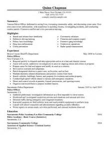 resume as a 10 for officer resumes writing resume sle writing resume sle