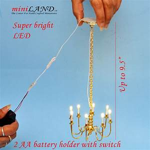 Playscale Brass 8 Arms Chandelier 1 6 Barbie Scale Battery