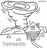 Tornado Coloring Pages Printable Cartoon Sheets Sheet Drawing Tornados Print Natural Tornadoes Drawings Air Disasters Wind Preschool Craft Draw Worksheets sketch template