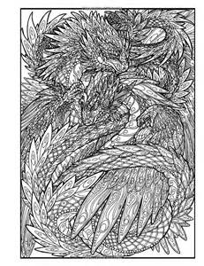 Dragons Adult Coloring Books