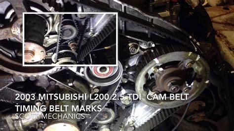 mitsubishi   tdi timing belt cam belt youtube