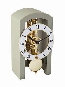 Pendule à Poser : pendule m canique bois poser grise hg23015 d10721 hermle passion cadeau ~ Teatrodelosmanantiales.com Idées de Décoration