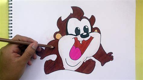 Dibujando y Pintando a Demonio De Tasmania (Looney Tunes