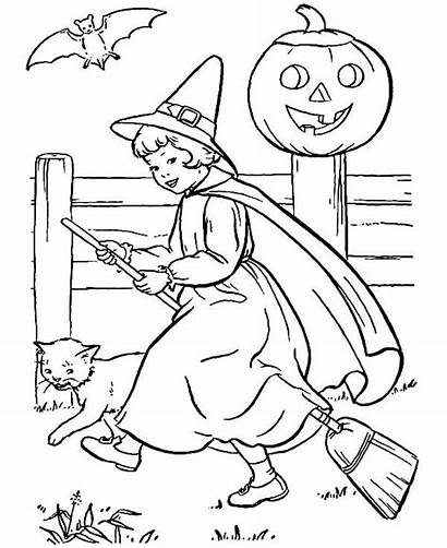 Witch Coloring Pages Scarlet Halloween Witches Place