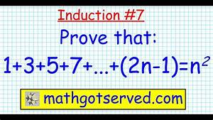 7 Proof By Induction 1 3 5 7     2n