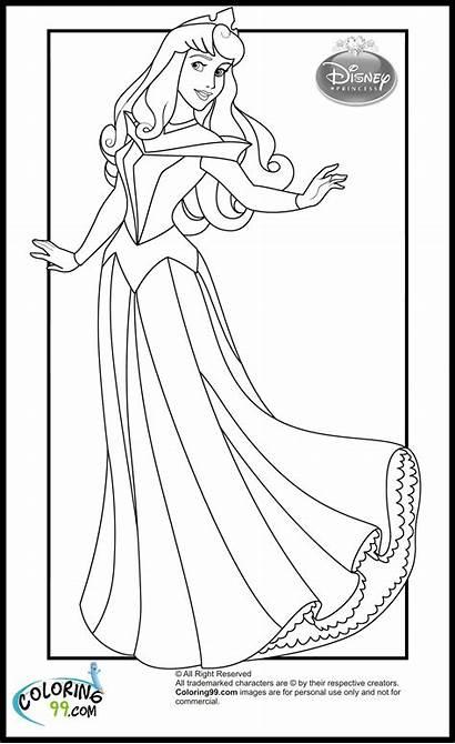 Coloring Princess Disney Aurora Pages Princesses Beauty