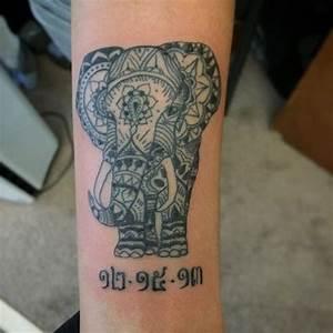 Tribal Elephant Tattoo - 30+ Aztec Elephant Designs (2018)