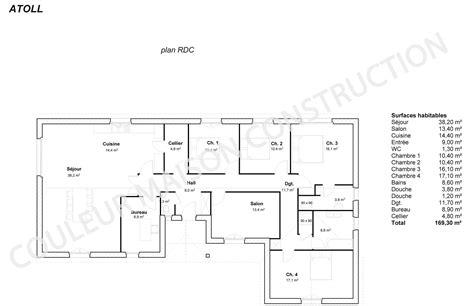 plan de maison plain pied 4 chambres avec garage exposition plan maison chambres couleur maison le plan de