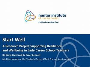 Start Well: A research project supporting resilience and ...