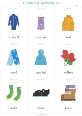 clothes vocabulary  english lingokids
