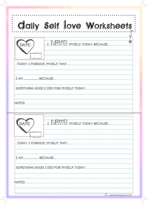 Self Love Worksheets Fellow Pinners! Please Pin This And Visit Our Site We Created This